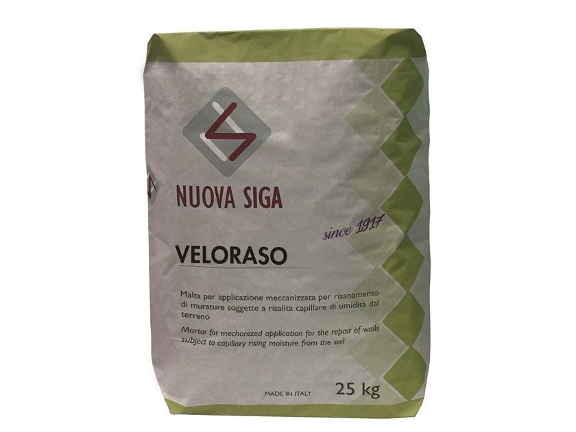 Smoothing compound / Surface water-repellent product VELORASO by Nuova Siga