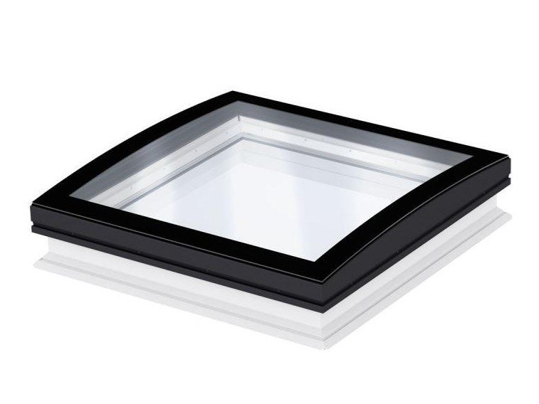 Fixed glass and aluminium roof window VELUX curved glass rooflight by Velux