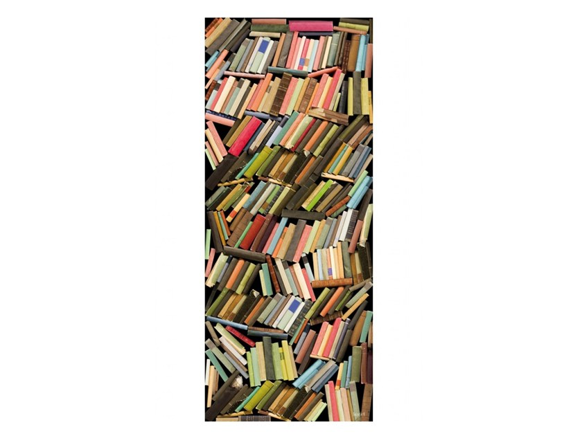 Polyester Tapestry CHAOTIC COLORED BOOKSHELVES by Koziel