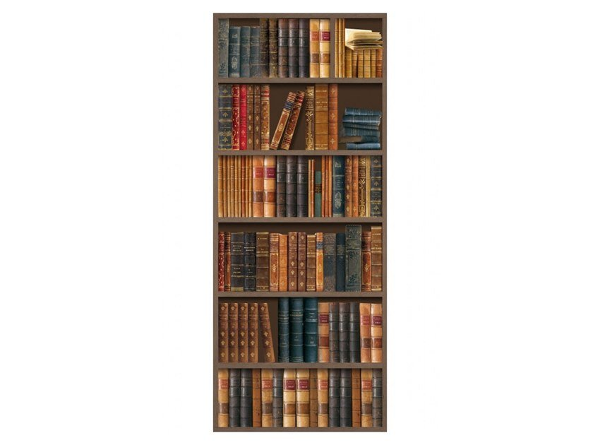 Polyester Tapestry OLD GOLDEN BOOKSHELVES by Koziel