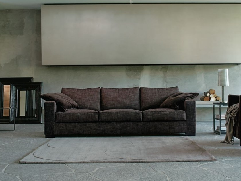 Upholstered fabric sofa with removable cover VELVET by Verzelloni