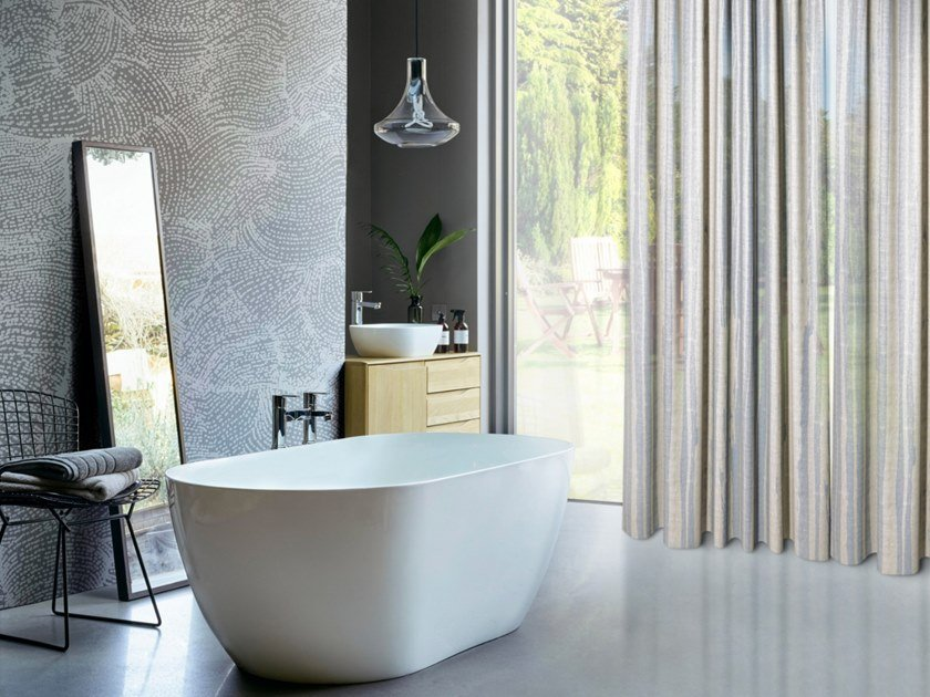 Trevira® CS fabric for curtains VENA by Inkiostro Bianco