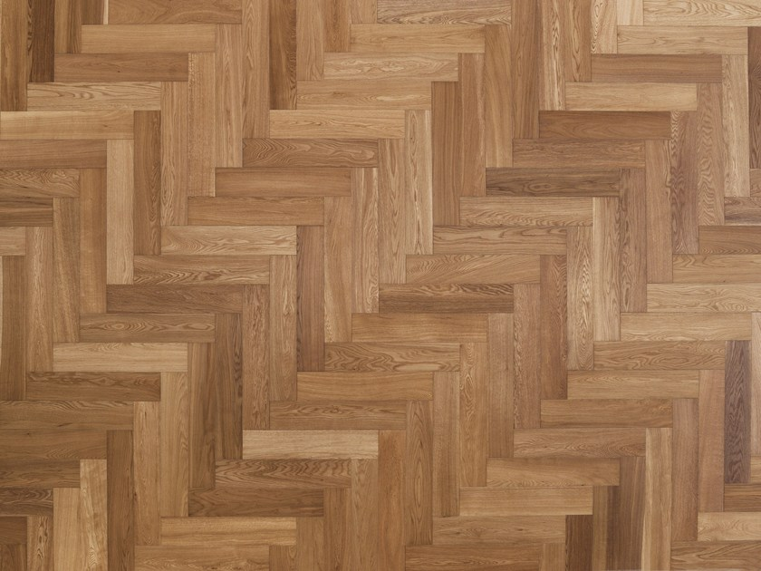 Parquet brushed solid wood in European Oak VENARIA | Solid wood parquet by Alma by Giorio