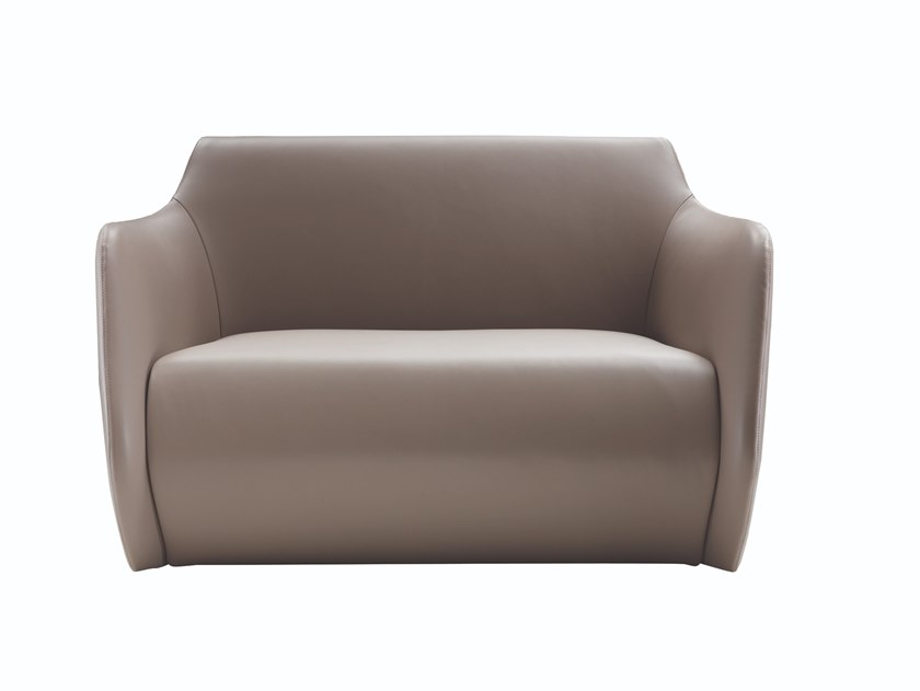 Leather small sofa VENDÔME | Small sofa by Busnelli