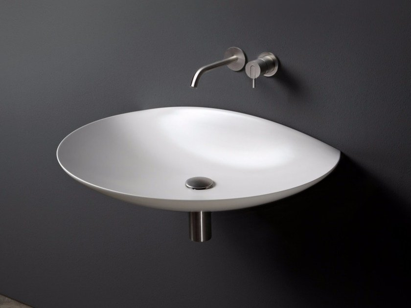 Wall-mounted Flumood® washbasin VENERE by Antonio Lupi Design