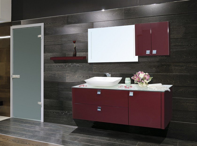 Vanity unit with doors with drawers with mirror VENERE CM05V by LA BUSSOLA