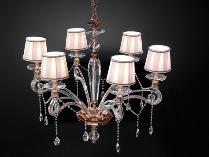 Chandelier with Swarovski® Crystals VENERE L6 by Euroluce Lampadari