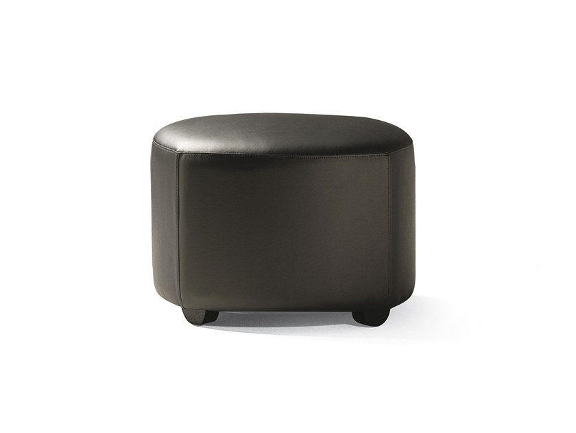 Upholstered leather pouf VENERE   Pouf by Blifase