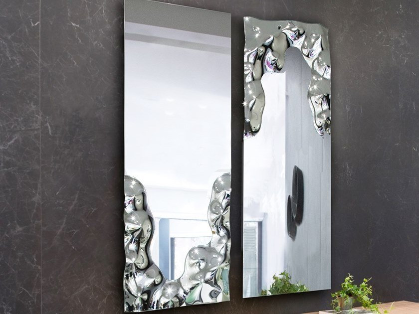 Rectangular wall-mounted mirror VENERE by RIFLESSI