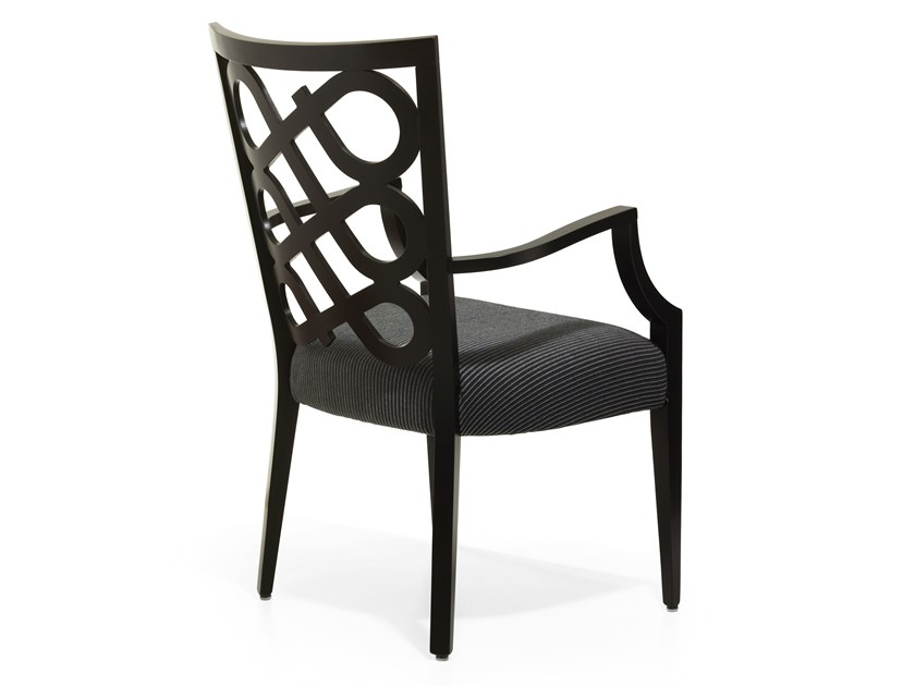 Upholstered chair with armrests VENERE | Chair with armrests by Blifase