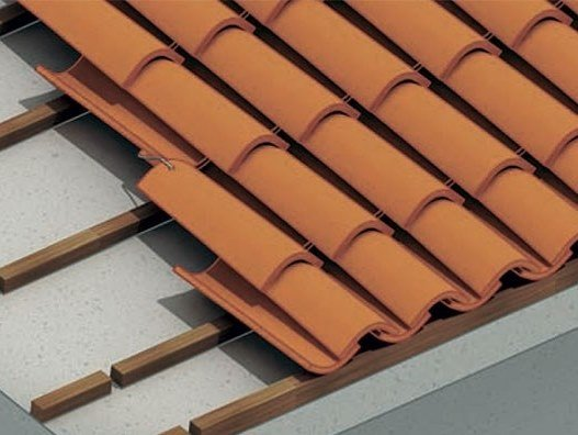 Quarry bent roof tile VENETO MONODENTE | Bent roof tile by Terreal SanMarco