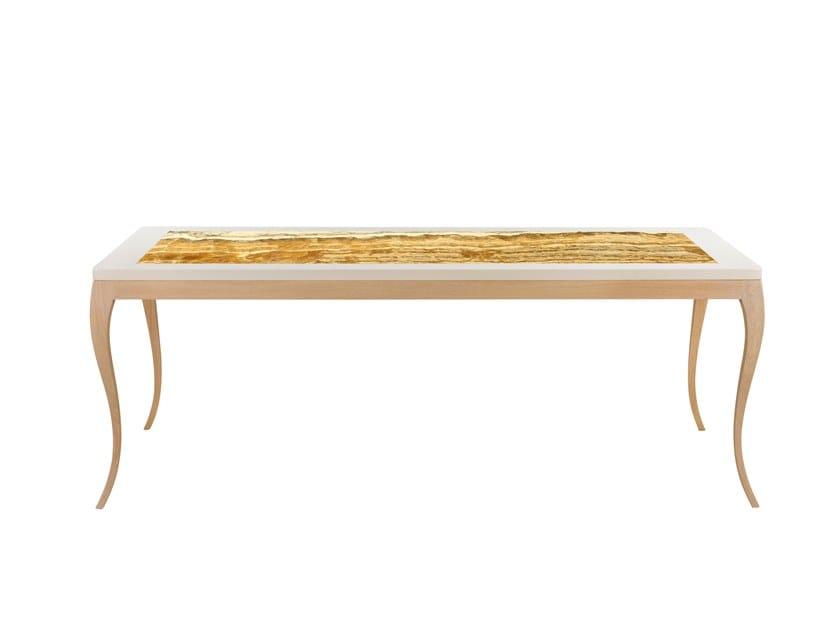 Rectangular onyx table with light VENEZA   Onyx table by Green Apple