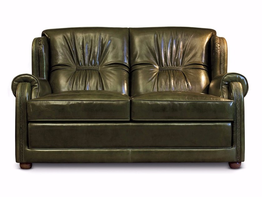 Sectional 2 Seater Leather Sofa Bed Venezia By Mascheroni