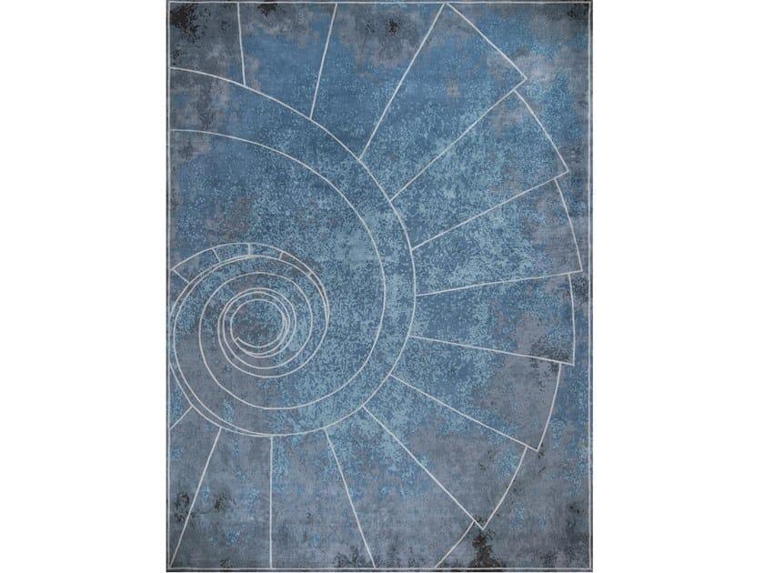 Handmade rectangular rug VENEZIA CELESTE by Tapis Rouge