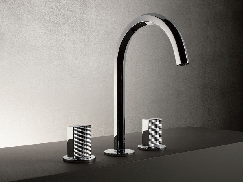 3 hole countertop washbasin tap VENEZIA | Countertop washbasin tap by Fantini Rubinetti