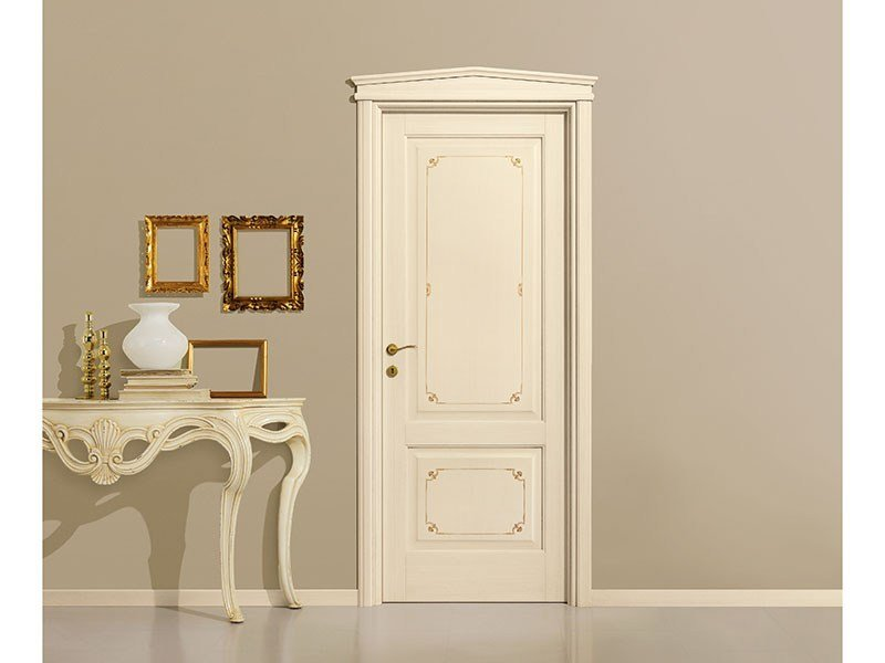Lacquered solid wood door VENEZIANA by LEGNOFORM