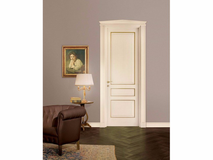 Lacquered solid wood door VENEZIANA by LEGNOFORM
