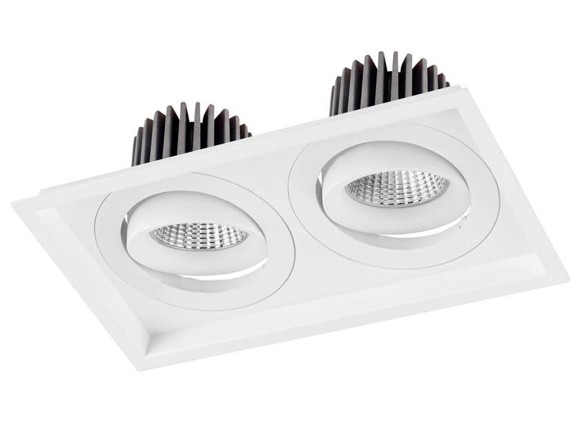 LED rectangular recessed aluminium spotlight VENICE DOBLE by LED BCN