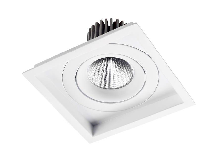 LED square recessed aluminium spotlight VENICE by LED BCN