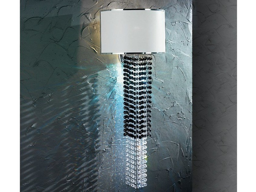 Wall lamp with Swarovski® crystals VENICE SUPERLUX A1+LED by Euroluce Lampadari