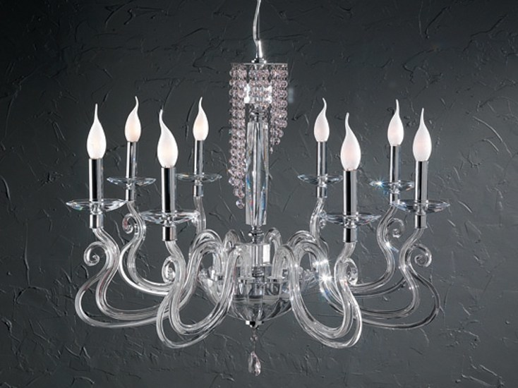 Chandelier with Swarovski® Crystals VENICE SUPERLUX L8 by Euroluce Lampadari