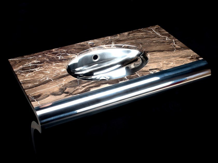 Oval console stainless steel washbasin VENTI | Oval washbasin by Componendo