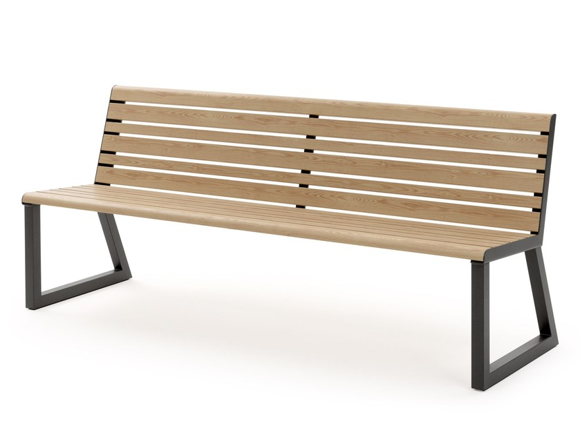 Aluminium Bench with back VENTIQUATTRORE.H24 | Bench with back by Diemmebi