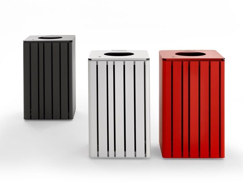 Aluminium litter bin VENTIQUATTRORE.H24 | Litter bin by Diemmebi