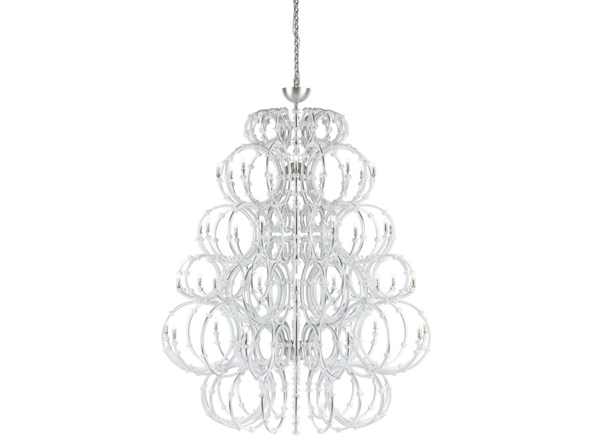 Direct light stainless steel chandelier VENUS by PRECIOSA Lighting