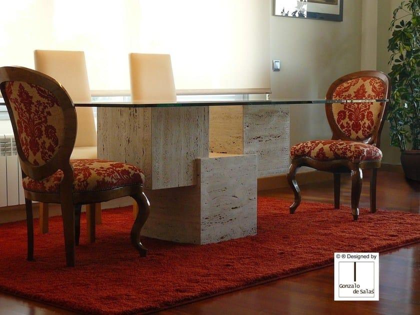 Rectangular travertine table VENUS | Table by Gonzalo De Salas
