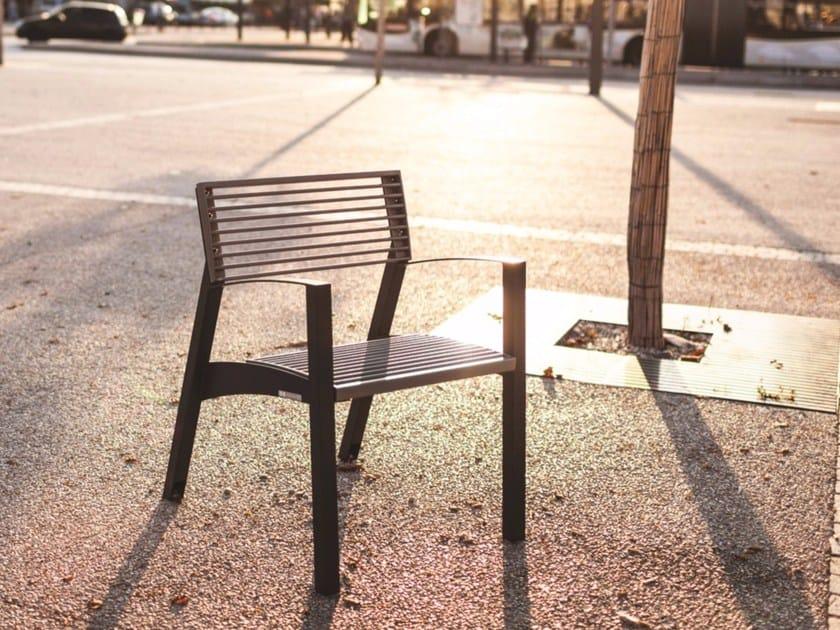Galvanized Steel Outdoor Chair VERA | Outdoor Chair By Mmcité1