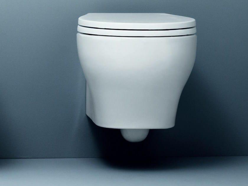Wall-hung ceramic toilet VERA   Wall-hung toilet by AZZURRA sanitari