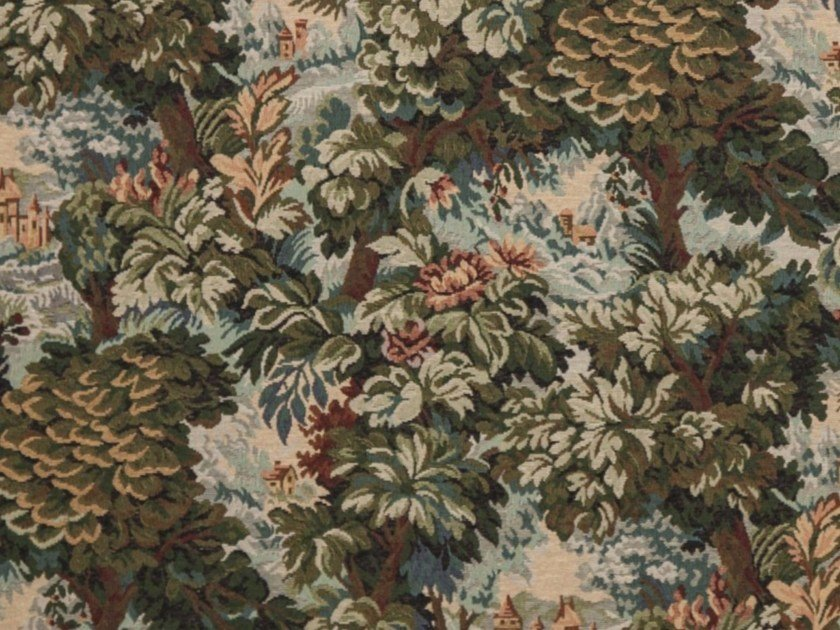Fabric with floral pattern VERDURA by Gancedo