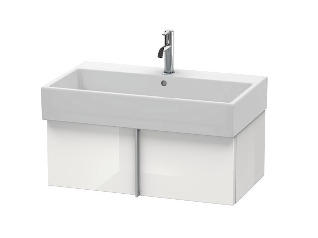 L-CUBE C-BONDED | Wall-mounted vanity unit By Duravit design ...