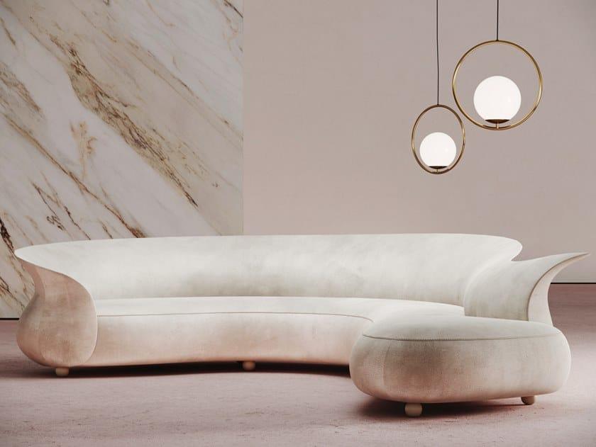 Curved 3 seater sofa VERONA CORNER SOFA by Desforma