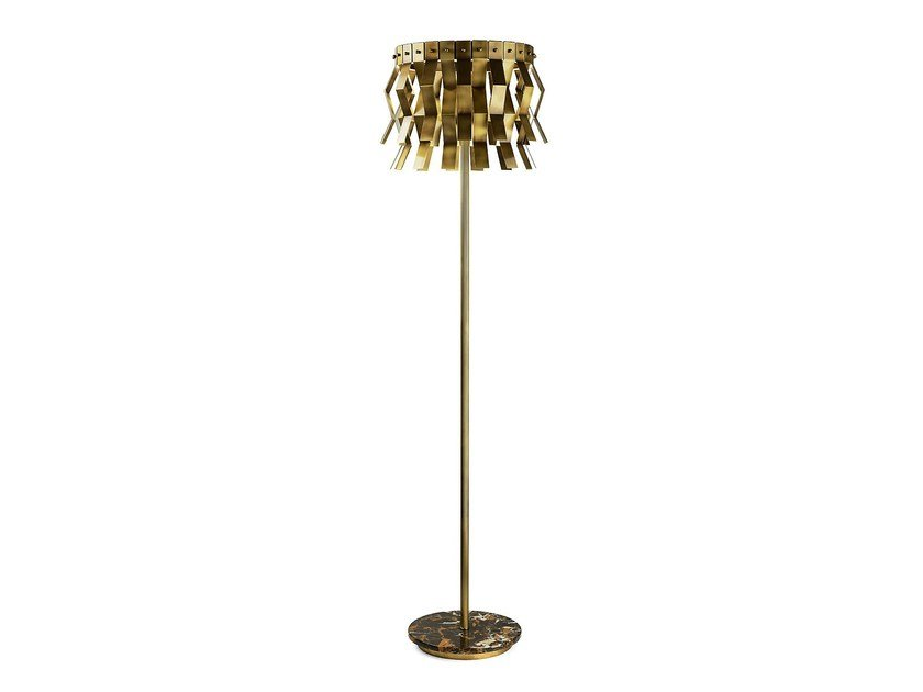 LED brass floor lamp VERONICA | Floor lamp by MARIONI