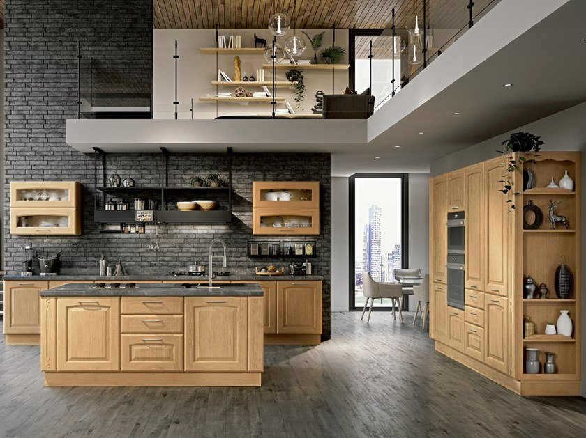 VERONICA | Kitchen with island By Cucine Lube