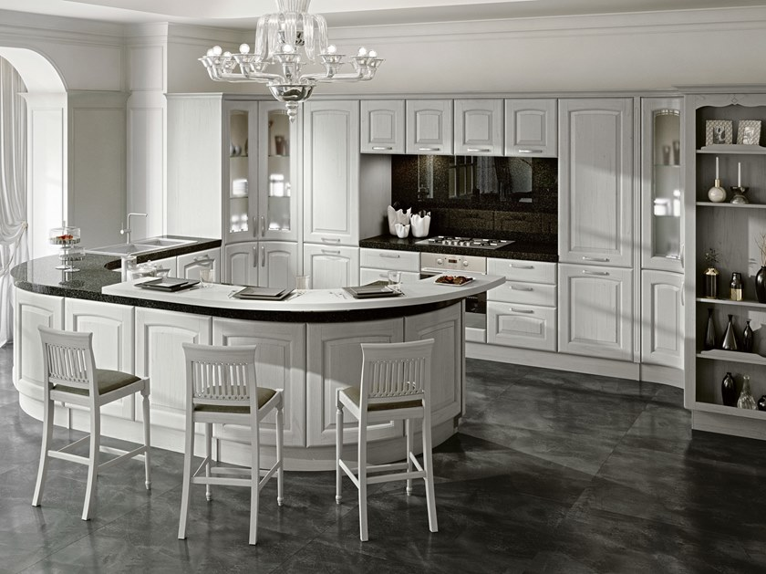 VERONICA | Kitchen with peninsula By Cucine Lube