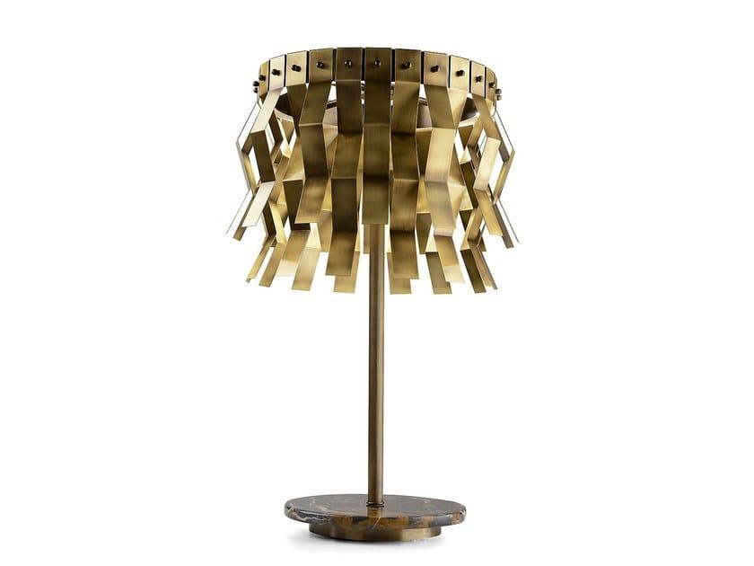 Lampada da tavolo a LED in ottone VERONICA | Lampada da tavolo by MARIONI