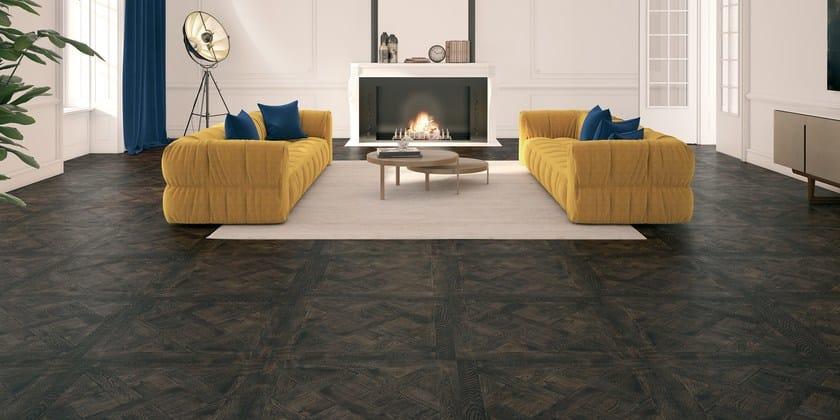 VERSAILLES | Pavimento/rivestimento in legno VERSAILLES PICCOLO - Rovere Europeo, Spazzolato, Rialto Carbonia