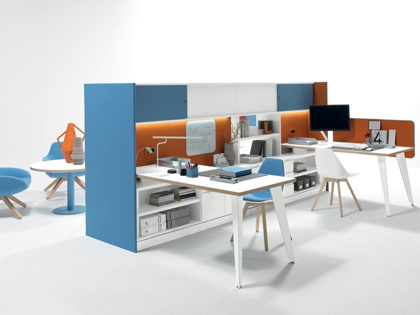Multiple office workstation VERTEBRA by Martex