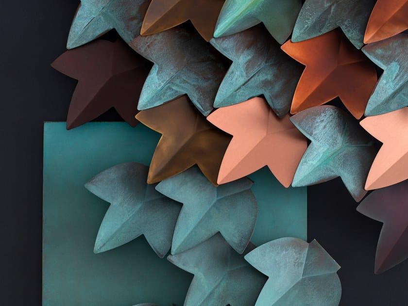 Rivestimento tridimensionale modulare in rame VERTICAL GREEN by DE CASTELLI
