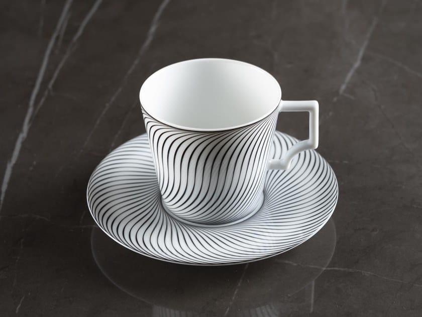 Tazza da caffè in porcellana con piattino VERTIGE | Tazza da caffè by extranorm