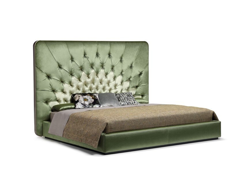 Double bed with tufted headboard VERTIGO by OPERA CONTEMPORARY