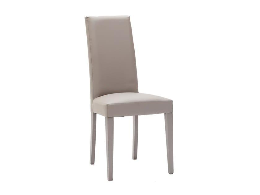 Upholstered Eco-leather chair VERTIGO SLIM by La seggiola