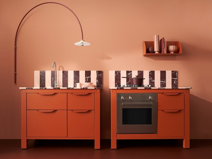 Cucina componibile in acciaio inox VERY SIMPLE TEKLAN EDITION by VERY SIMPLE KITCHEN.