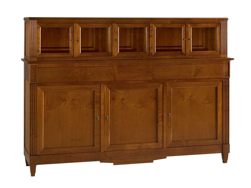 Cherry wood highboard with doors DIRETTORIO | Highboard by Morelato