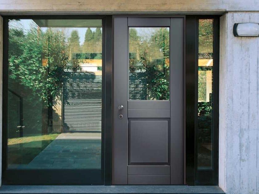 Exterior glazed safety door VETRO by COCIF