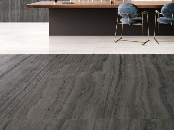 Pavimento/rivestimento in gres porcellanato effetto marmo VIA APPIA VEIN CUT DARK by CERAMICA SANT'AGOSTINO
