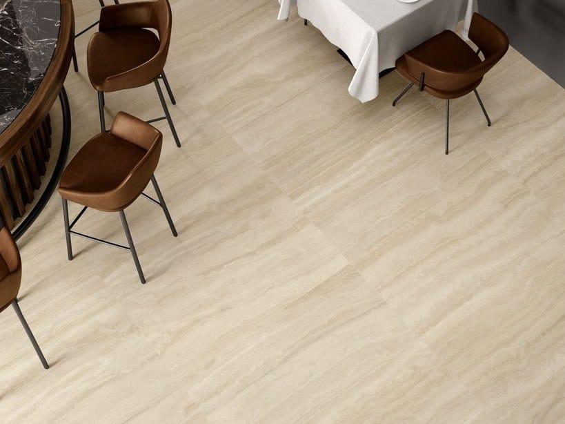 Pavimento/rivestimento in gres porcellanato effetto marmo VIA APPIA VEIN CUT BEIGE by CERAMICA SANT'AGOSTINO